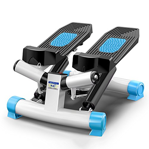 XXSS Sportgeräte, Home Mute Stepper Mit Kalorienverbrauch Zähler Kleine Gewichtsverlust Maschine Mode Wandern Pedal Maschine Gewichtsverlust Fitnessgeräte (Color : Blue)