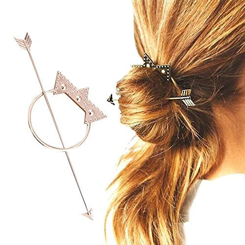 Contever® Vintage Palillos de Pelo Cabello Varillas Clip Pin Accesorios de Peinado - Fiesta / Diario / Casual (Plata)