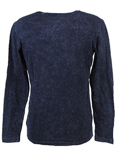 BIAGGIO Herren Langarmshirt Blau - Petrol