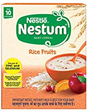 Nestle NESTUM Baby Cereal – From 10 to 24 months, Rice Fruits, 300g Bag-in-Box Pack