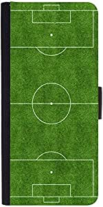Snoogg Football Field Graphic Snap On Hard Back Leather + Pc Flip Cover Samsu...