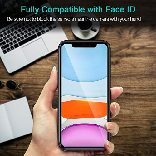 LK [3 Pack Protector de Pantalla para iPhone 11 / iPhone XR 6.1,  Cristal Vidrio Templado Templada [Compatible con Funda] Fácil de Instalar Screen Protector [Garantía Vitalicia De Sustitución]