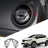 per Captur 2013-2015 interno anteriore A/C griglia Rifiniture interne opaca 2 pezzi ABS plastica