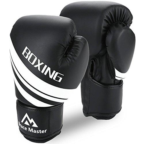 Brace Master Boxhandschuhe Leder infundiertes Gel, Trainingshandschuhe für Sparring, Kickboxen,...