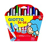 Giotto 4667 00 - Be-be Fasermaler, 12-er Etui, farbig sortiert