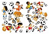 dekodino Wandtattoo Wandsticker Kinderzimmer Fußballer Sticker Aufkleber Wandtattoo Wand