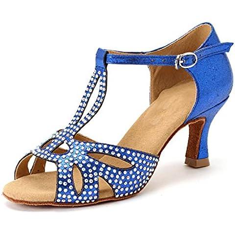 SONGYUNYANBailes estándar profesional interior mujeres zapatos de raso de baile latino , 36