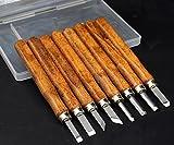 YCNK Professional 8-teiliges Holzschnitzerei Meißel Set Holz Schnitzmesser-Set für Anfänger