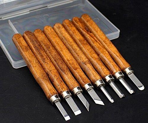 YCNK Professional 8-teiliges Holzschnitzerei Meißel Set Holz Schnitzmesser-Set für Anfänger / Power Grip Schnitzwerkzeuge
