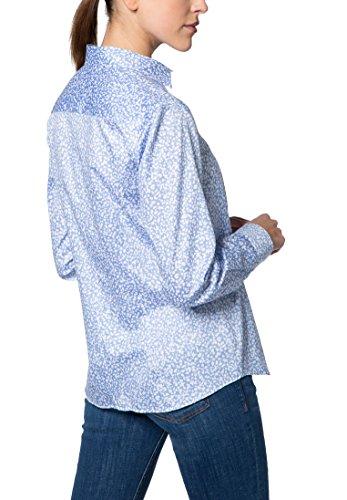 Eterna Chemisier à Manches Longues Modern Classic Imprimé bleu clair/blanc