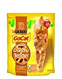 Go-Cat Dry Cat Food Crunchy Tender Chicken/Turkey/Vegetables, 375 g - Pack of 5