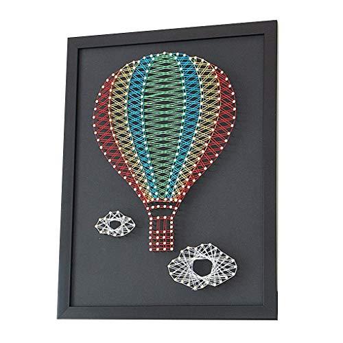 -Ballon DIY Nagel Wicklungsgarnführung Malerei Home Gemälde Faden Kunst Kit DIY Kunst-String ()