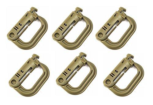 Mehrzweck D-Ring Grimloc Verriegelung für Molle Gurtband Pack 6 -