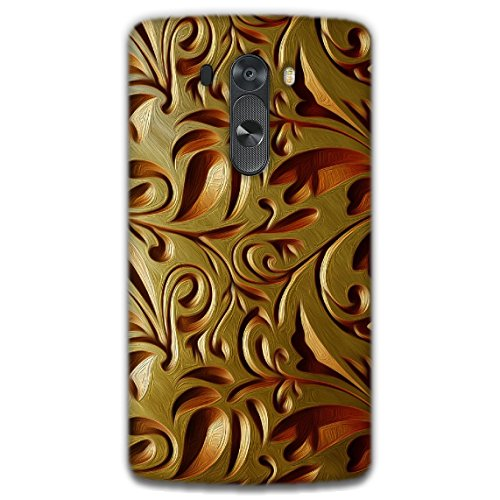 The Racoon Lean printed designer hard back mobile phone case cover for LG G3. (Gold Weave)  available at amazon for Rs.99