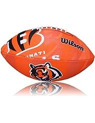Wilson Football NFL Junior Cincinnati Bengals Logo - Balón de fútbol americano ( infantil, caucho ), color multicolor, talla 5