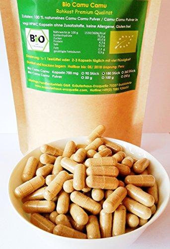 360 Bio Camu Camu vegi Kapseln 700 mg aus Peru Rohkost Qualität Regenwald Hand Auslese 100% naturrein