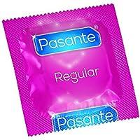 Pasante Kondome (144er Packung, Pasante Regular) medium normale Größe 53 befeuchtet spermizid frei Gleitmittel... preisvergleich bei billige-tabletten.eu