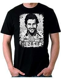 Official Narcos - Pablo Escobar Retrato - Camiseta Hombre D7e91t