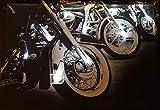 Samarkand-Lights LED-Bild mit Beleuchtung LED- Bilder Leinwandbild 65 x 45 cm Leuchtbild Motorrad...