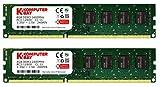 Komputerbay 16GB (2x 8GB) DDR3 PC3-12800 1600MHz DIMM 240-Pin RAM Desktop Speicher 11-11-11-28 XMP bereit