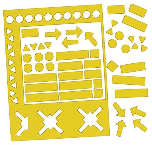 Legamaster Symbolmagnet Magnetsymbole, 10 mm, Gelb, ca. 50 g/cm² g