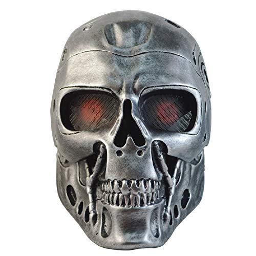 ZJWZ Maske Radfahrer Horror Schädel Terminator Roboter Halloween Dekorative Maske (Memory-stick-kreuz)