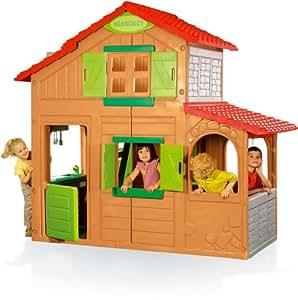 smoby 7 320020 jeu de plein air maison duplex. Black Bedroom Furniture Sets. Home Design Ideas