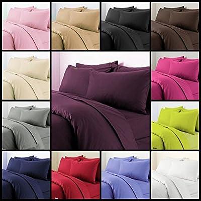 SASA CRAZE NON IRON Luxury Parcale Plain Dyed Duvet Cover & 2 Pillow Cases Bed Set - cheap UK light store.