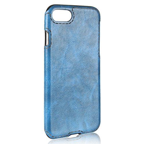 IPhone 8 Coque,Valenth Crazy Pattern cheval étanche aux chocs Ultra mince Slim protecteur Scratch résistant à la peau Coque Etui pour iPhone 8 Bleu