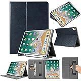 2018 Hülle Folio Leather Wallet Card Stand Case Schutzhülle mit Stifthalter für iPad Pro 12.9in (Dunkelblau)