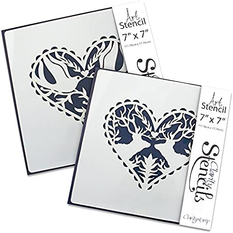 Doves & Deer Set di Stencil (Set di 2)