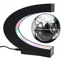 MECO Globe Magneto-Ottici Palla Decorazione Della Casa Regali Compleanno Levitazione Magnetica Elettronico Natale Dell'ufficio Lampadina Argento e nero - Regalo Materiale
