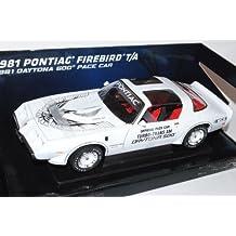 Pontiac Firebird T/A 1981 Daytona 500 Pace Car Weiss 1/18 Greenlight Modell Auto mit oder ohne individiuellem Wunschkennzeichen