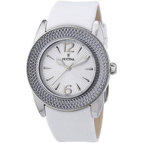 Festina F16592/1 - Reloj analógico de cuarzo para mujer con correa de piel, color blanco