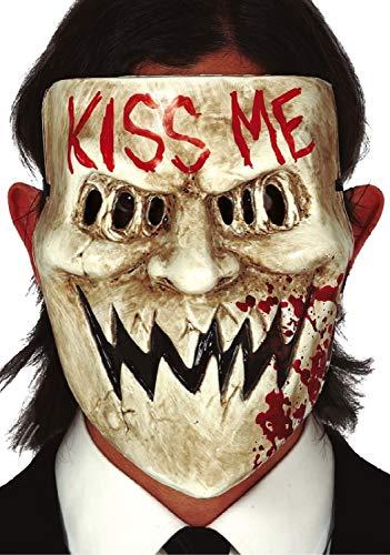 Kiss Me Gruselmaske für Erwachsene, Damen, Herren, Halloween, Kostüm