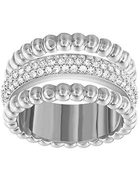 Swarovski Damen-Stapelring rhodiniert Glas transparent - 5123