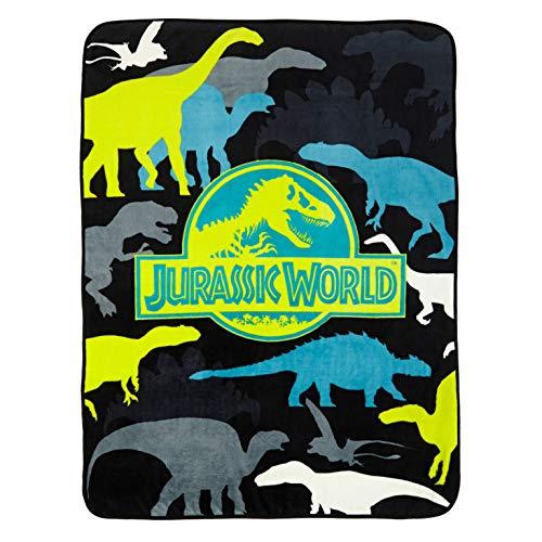 Manta microfibra diseño Jurassic World prehistórico