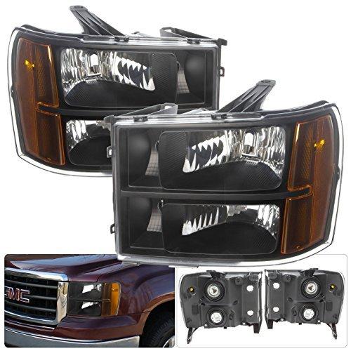 gmc-sierra-pickup-truck-1500-2500-3500-hd-blacking-housing-amber-reflectors-corner-signals-clear-len