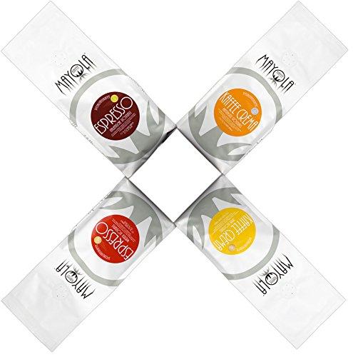 Barista-Spezialitäten-Kaffee Try Box 1 Probier-Set 4 x 250g Tüten Bohnenkaffee ganze-geröstete-Bohnen in absoluter-Spitzenqualität-tolles Geschenk-Set - 4 Sorten ( 2 x Espresso + 2 x Kaffee-Crema )