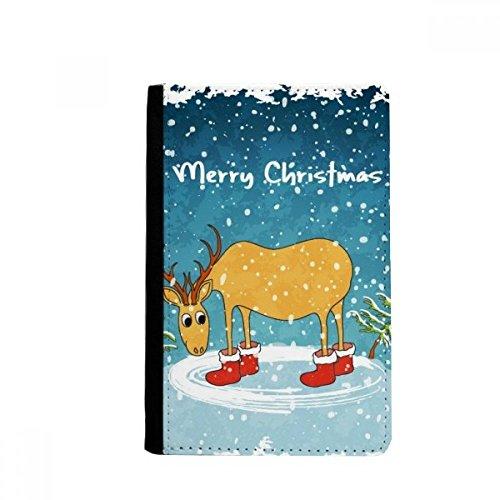 beatChong Navidad Festival De Ciervos Ilustración Monedero Pasaporte De Viajes Titular De La Cartera De Tarjetas Caso De La Cubierta