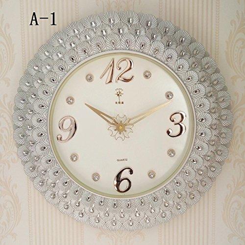 Vinteen orologio da parete silenzioso soggiorno orologio da tasca continental orologio da tasca orologio da polso orologio da quarzo circolare semplice orologio da tavolo horologe (color : a-1)