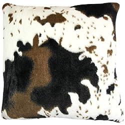 Cojín decorativo en barrio de piel de vaca Look - funda extraíble