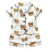 Yuan  Kleinkind scherzt Baby-Mädchen-Karikatur-Pyjama-Nachtwäsche-T-Shirt Kurzschluss-Kleidung Set Kurzärmeliger Hausdienst-Baby-Pyjama, dünn Geschnittener weiblicher Schatzanzug
