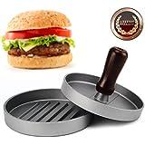 Allezola Prensador hamburguesas, Molde para hacer hamburguesas, Hacedor de hamburguesas antiadherente de aluminio, Ideal para barbacoa y comida rápida