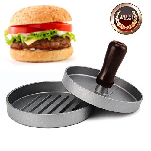Hamburgerpresse, Allezola Premium Hamburger Presse Burger Hersteller für perfekte Burger, BBQ, Hamburger, Patties, Presse, Grill aus Aluguss