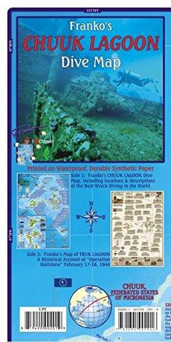 Chuuk Guide Map and Fishcard: Tauch- und Schnorchel-Freizeitkarte (Karte Von Mikronesien)
