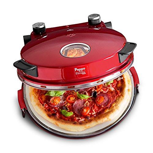 Pizzaofen Peppo von Springlane Kitchen Pizzamaker für Pizza wie aus dem Steinofen bei 350° C mit Timer und Signallampe inkl. 2 großen Pizzawendern