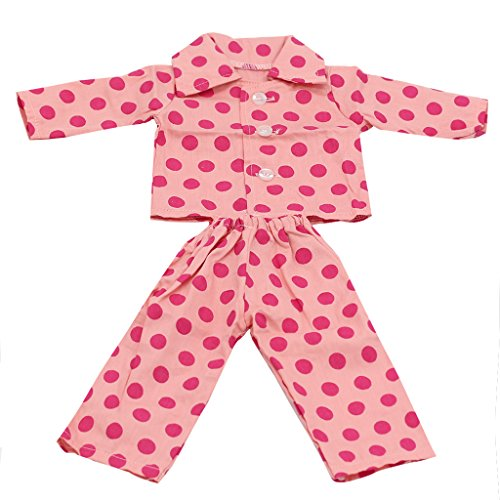 generic-pajamas-sleepwear-doll-clothes-fits-18-inch-american-girl-2-pcs-set-pink