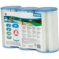 Intex - Juego de 3 cartuchos de filtro (tipo de filtración: A)
