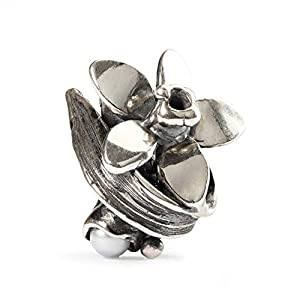 Trollbeads Damen-Bead Narcissus of December 925 Silber – TAGBE-00038